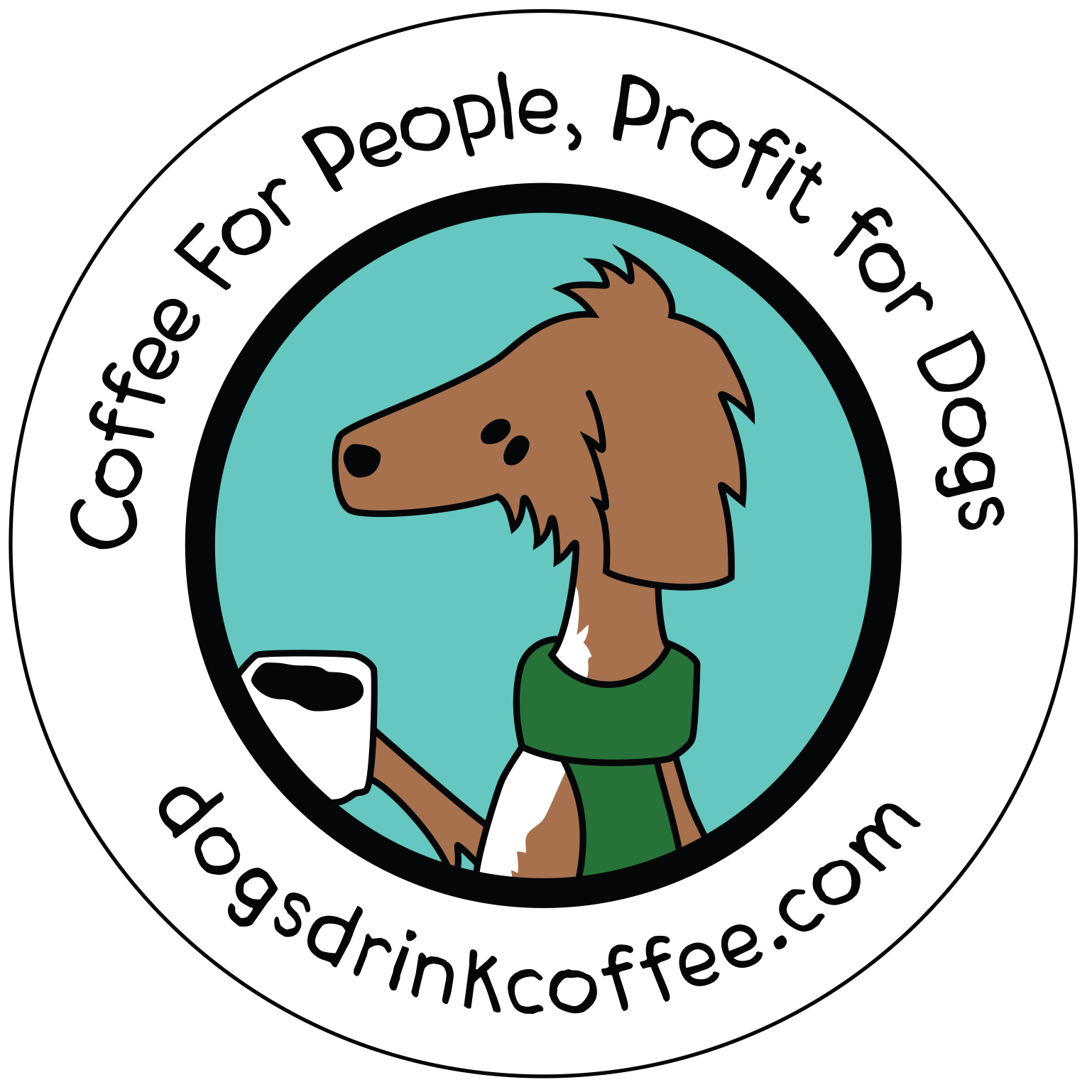 dogs drink coffee